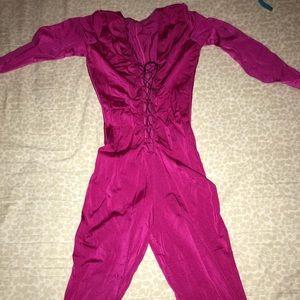 Fushia pink catsuit